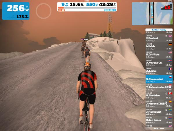 Zwift screenshot
